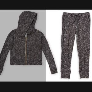 Set - Marble Rib Knit Hoodie & Jogger pant